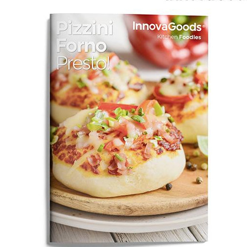 InnovaGoods 700W Red Black Presto! Mini Pizza Ugn med Recept Boken - Decorema