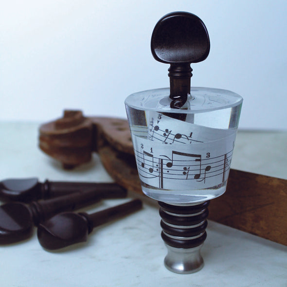 Music Swirl bottle stopper - Violin Peg