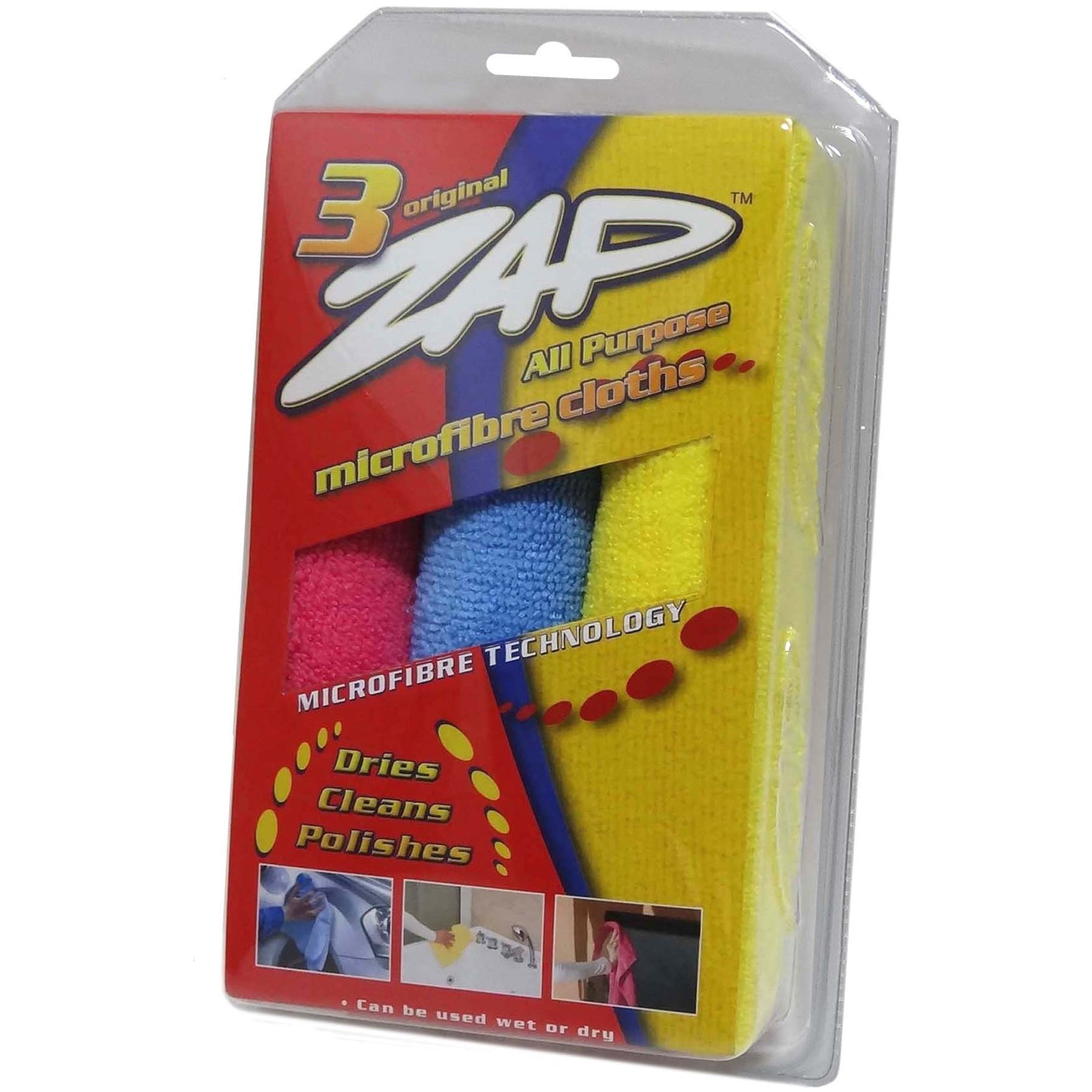ZAP ALL PURPOSE MICROFIBER TRIPLE PACK (38cmx38cm) 3pcs/pack