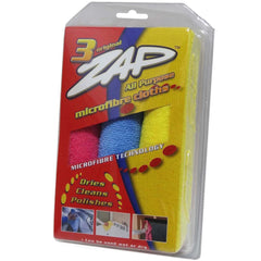 ZAP ALL PURPOSE MICROFIBER TRIPLE PACK (38cmx38cm) 3pcs/pack - Autohub Pakistan - 1