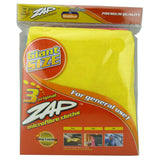 ZAP GIANT MICROFIBER CLOTH (50cm x 60cm) 3Pcs/Pack - Autohub Pakistan - 1