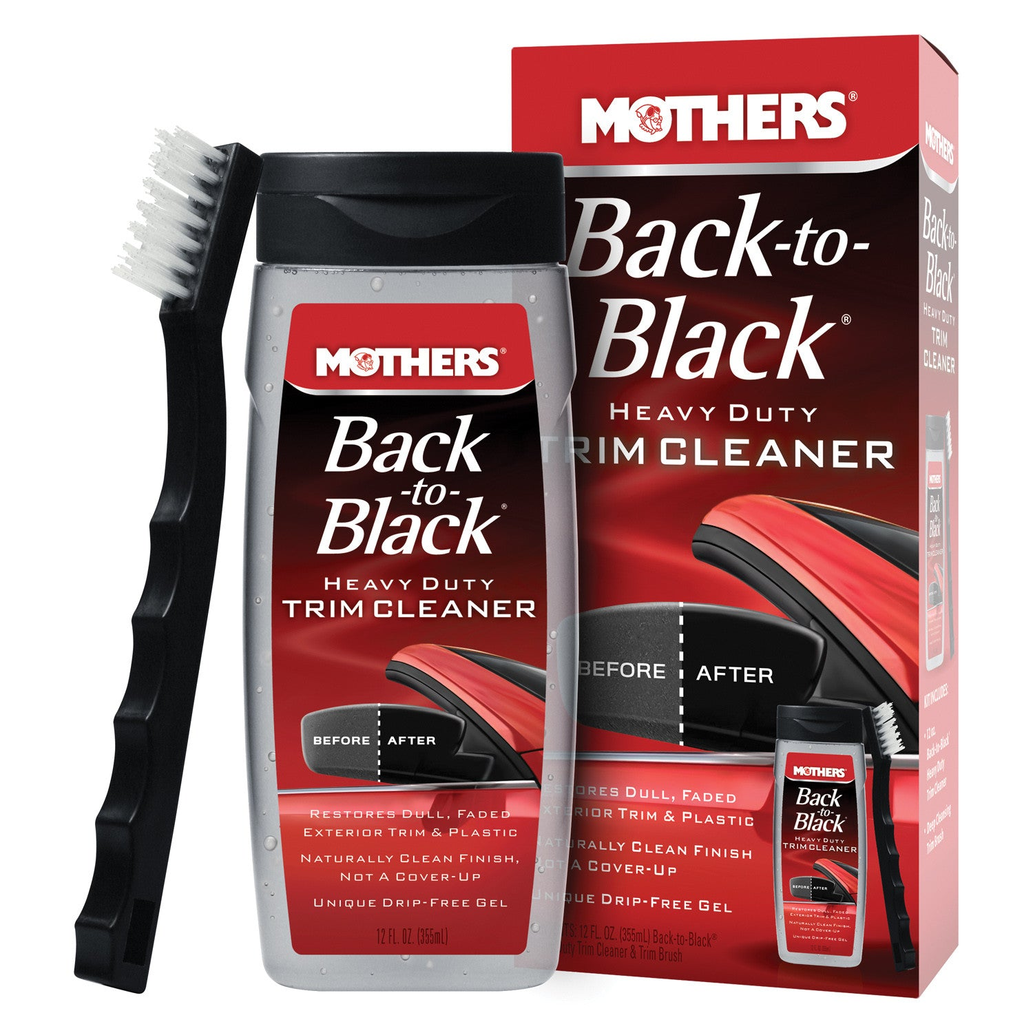 MOTHERS BACK TO BLACK HEAVY DUTY CLEANER KIT 12 OZ