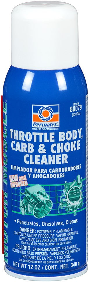 Permatex Throttle Body, Carb & Choke Cleaner 12 oz.