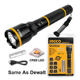 INGCO Aluminium Flash Light 135-270 Lumens - Autohub Pakistan