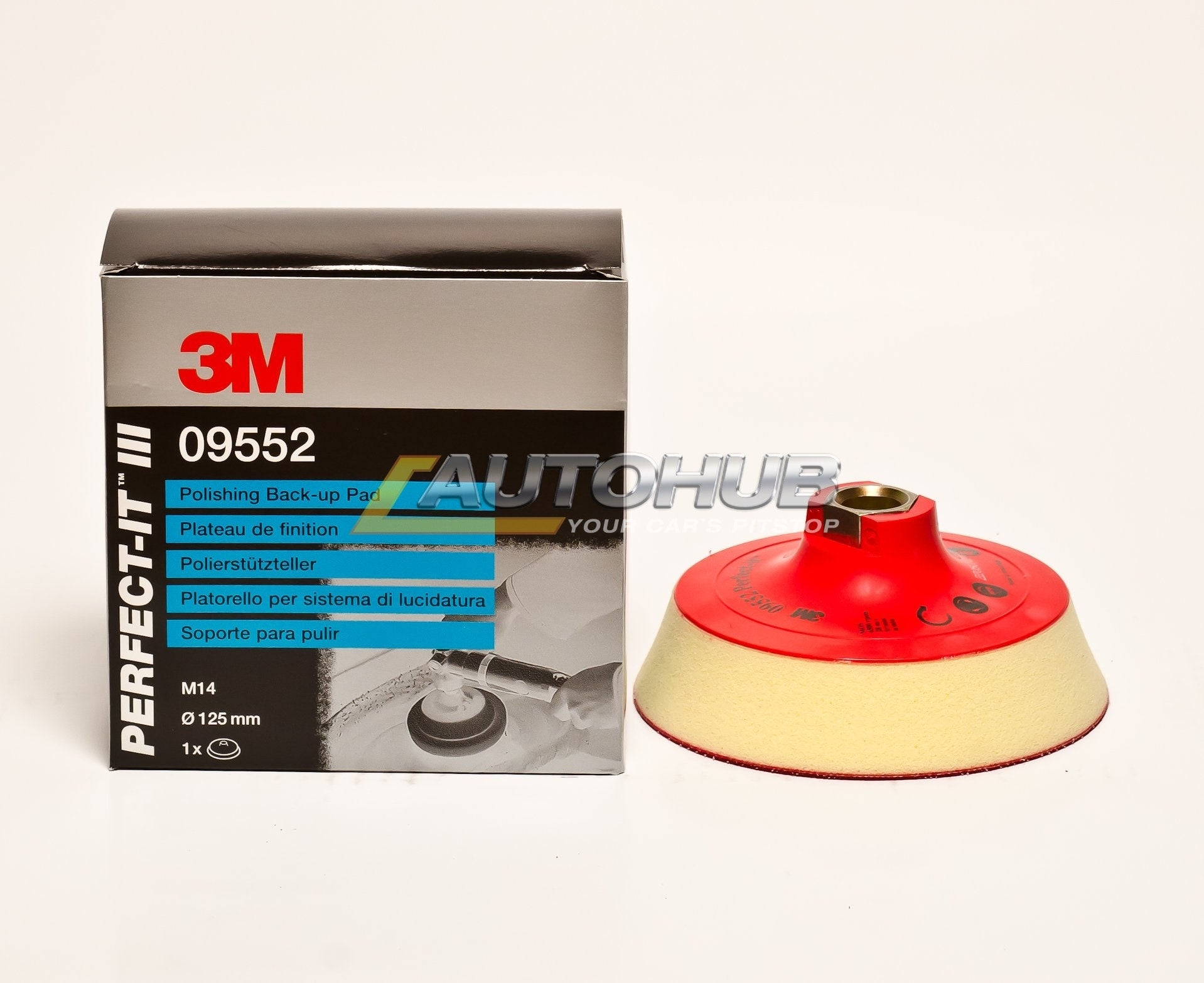 3M Hookit Perfect-It III Polishing Back-Up Pad 125mm M14