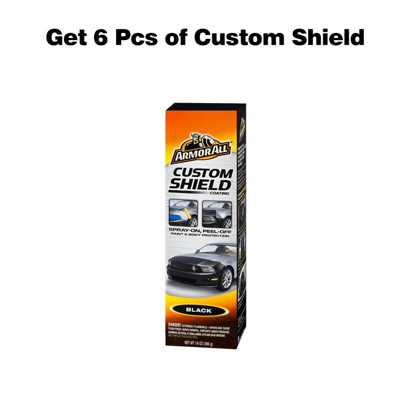 6 Pcs Armor All Custom Shield (14oz.) Black