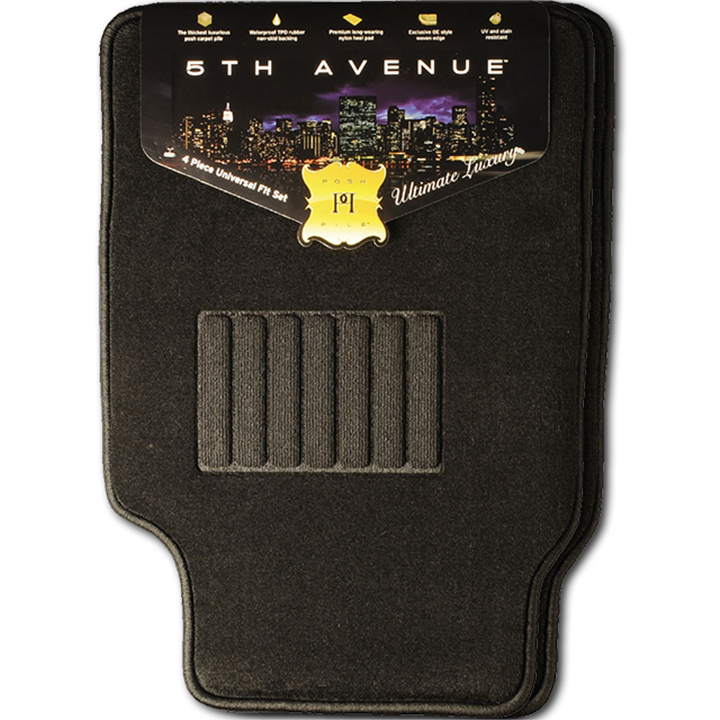 5TH Avenue Universal Car Mats (Black)