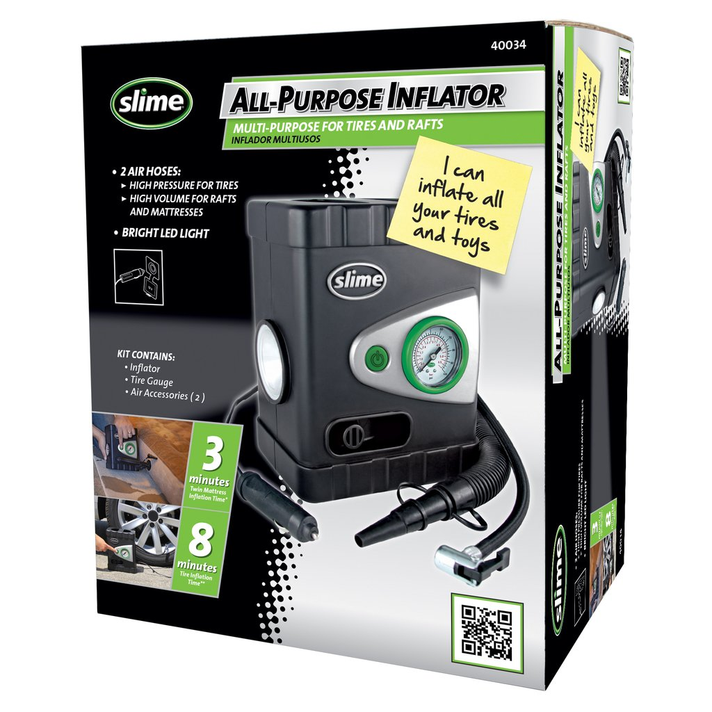Slime Deluxe All-Purpose Tire Inflator