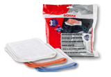 Sonax Microfiber Cloth Ultrafine 3pcs/Set - Autohub Pakistan
