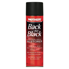 MOTHERS BACK TO BLACK TRIM & PLASTIC RESTORER  AEROSOL 10 OZ