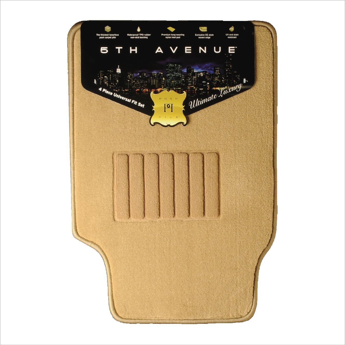 5TH Avenue Universal Car Mats (TAN)