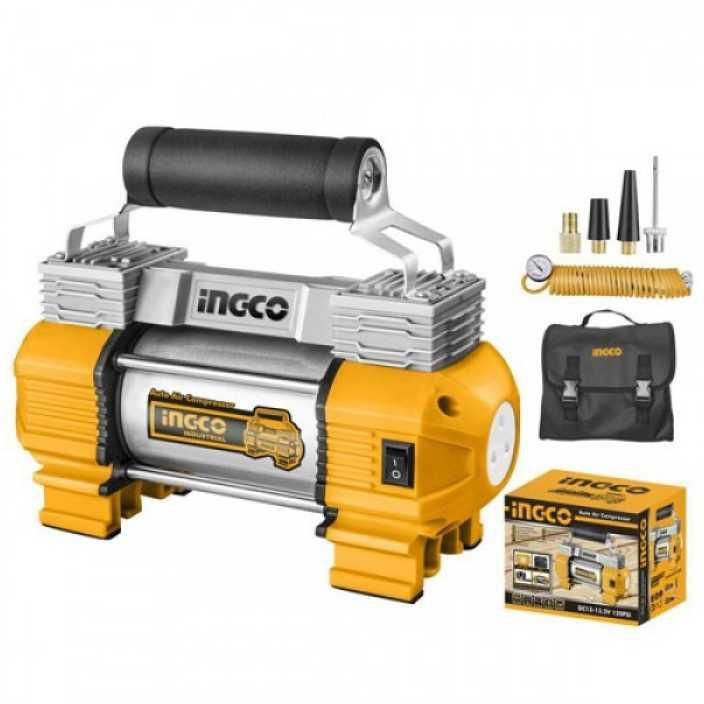INGCO Heavy Duty Air Compressor with Light 12V