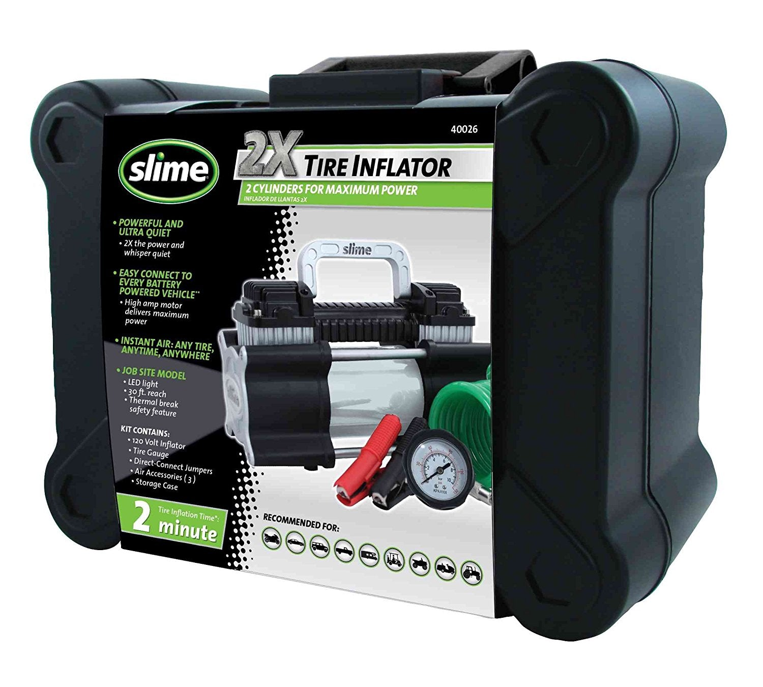 Slime Heavy Duty 2X Pro Power Tire Inflator