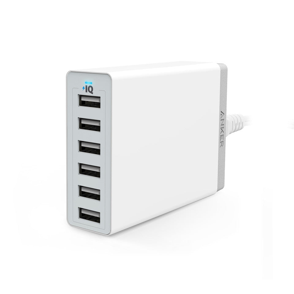 Anker Powerport 6 -60W 6Port USB Charger (White)