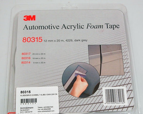 3M Acrylic Double Sided Foam Tape (12mm x 20meter)
