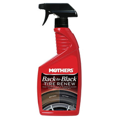 Mothers Back to Black Tire Renew (24 oz.) - Autohub Pakistan