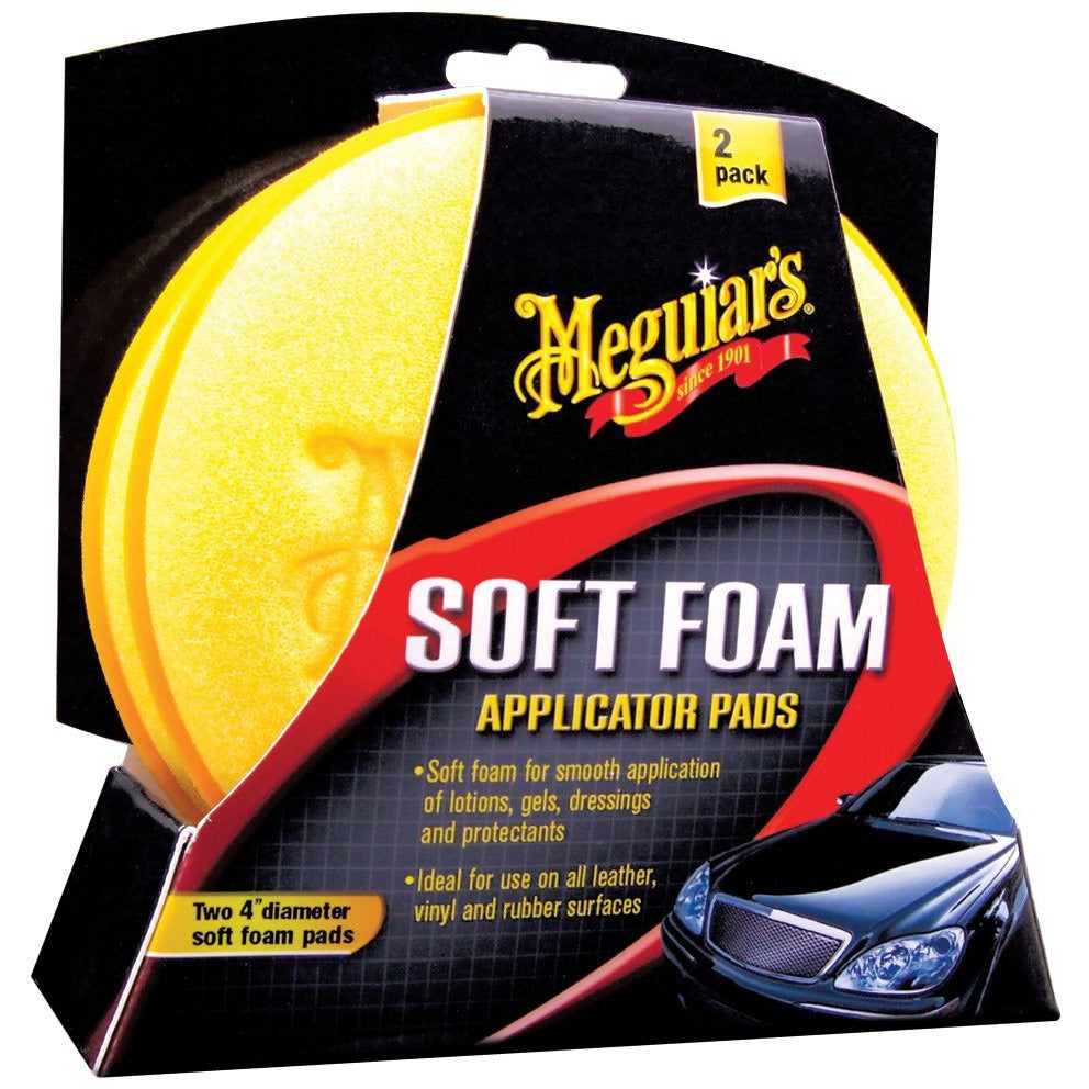 MEGUIAR'S FOAM APPLICATOR PAD (Pack of 2)