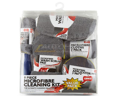 Kenco 9 Pieces Microfiber Cleaning Kit Microfiber