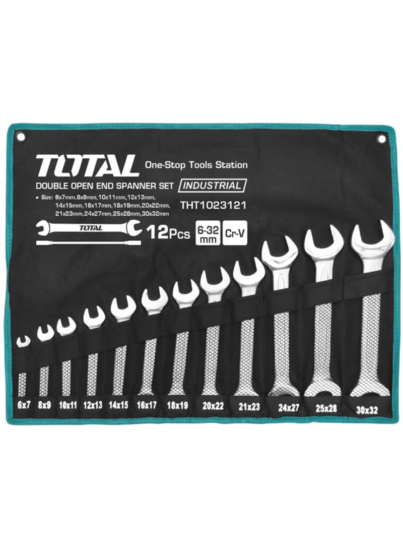 Total Double Open End Spanner Set 12pcs