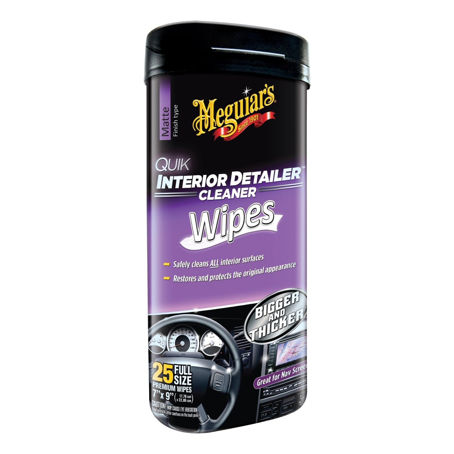 MEGUIAR'S QUICK DETAILOR INTERIOR  WIPES