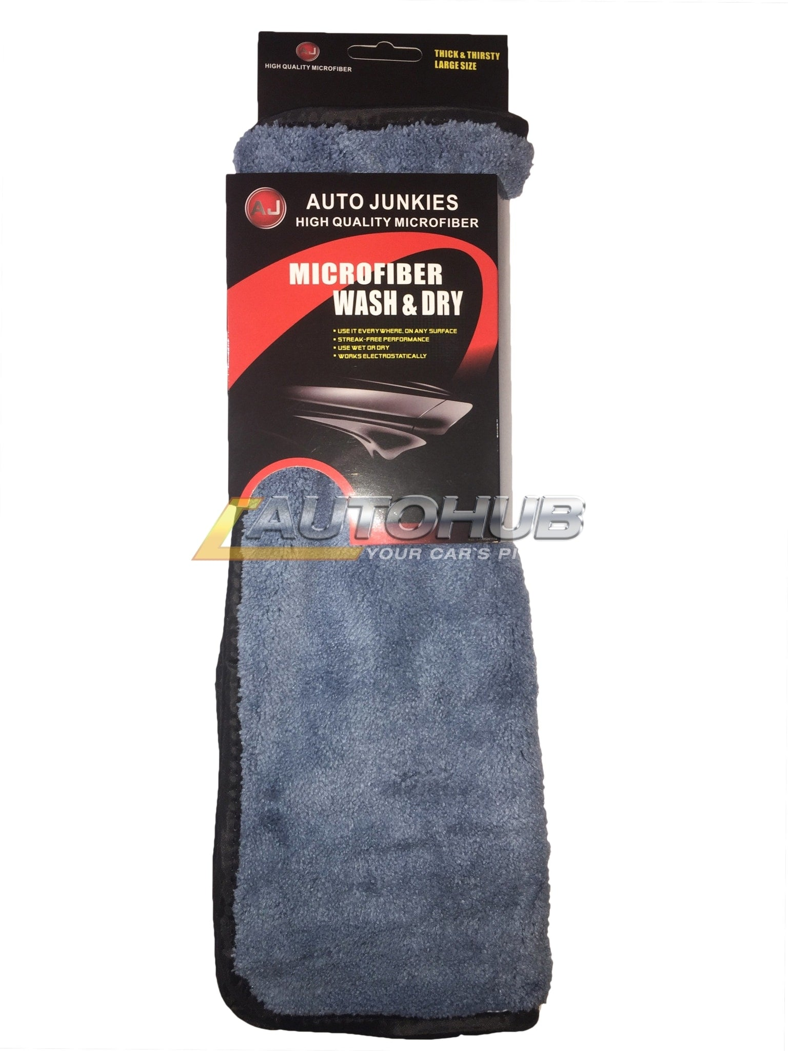 Auto Junkies Grey Microfiber Plush (30*40)