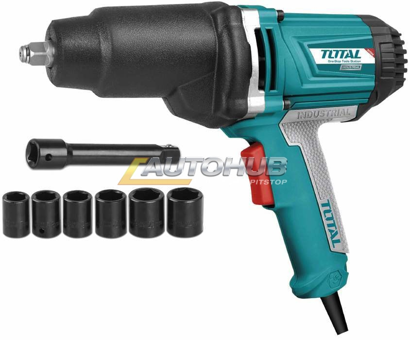 Total Impact Wrench with 6 pcs Sockets
