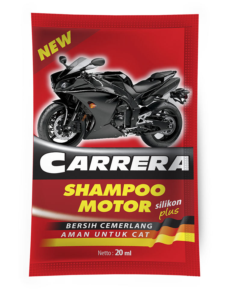 CARRERA Motorcycle Shampoo 20 ml Strip 12 Pcs