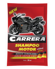 CARRERA Motorcycle Shampoo 20 ml Strip 12 Pcs - Autohub Pakistan