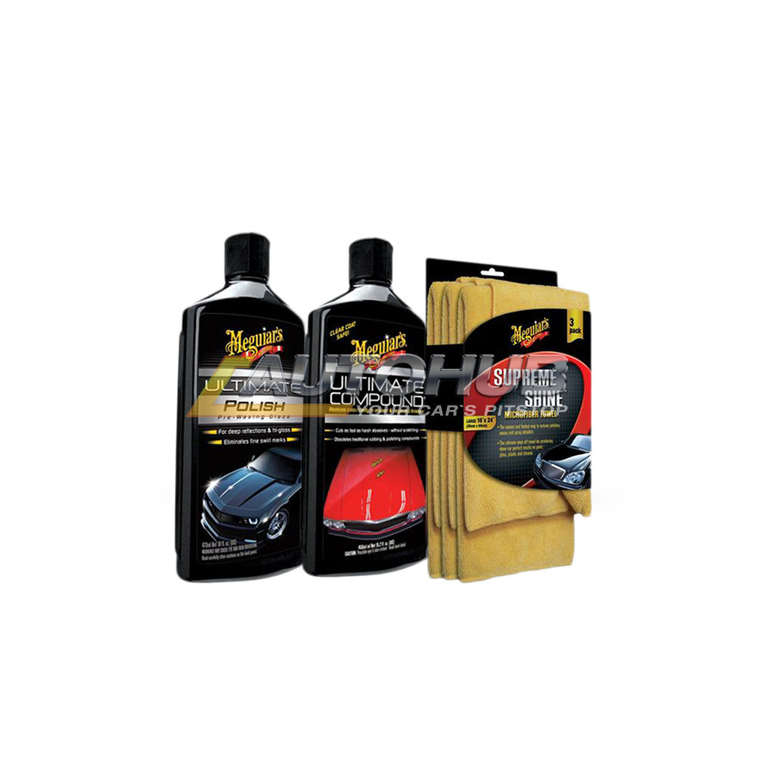Meguiar's Polish, Compound & Microfiber Bundle