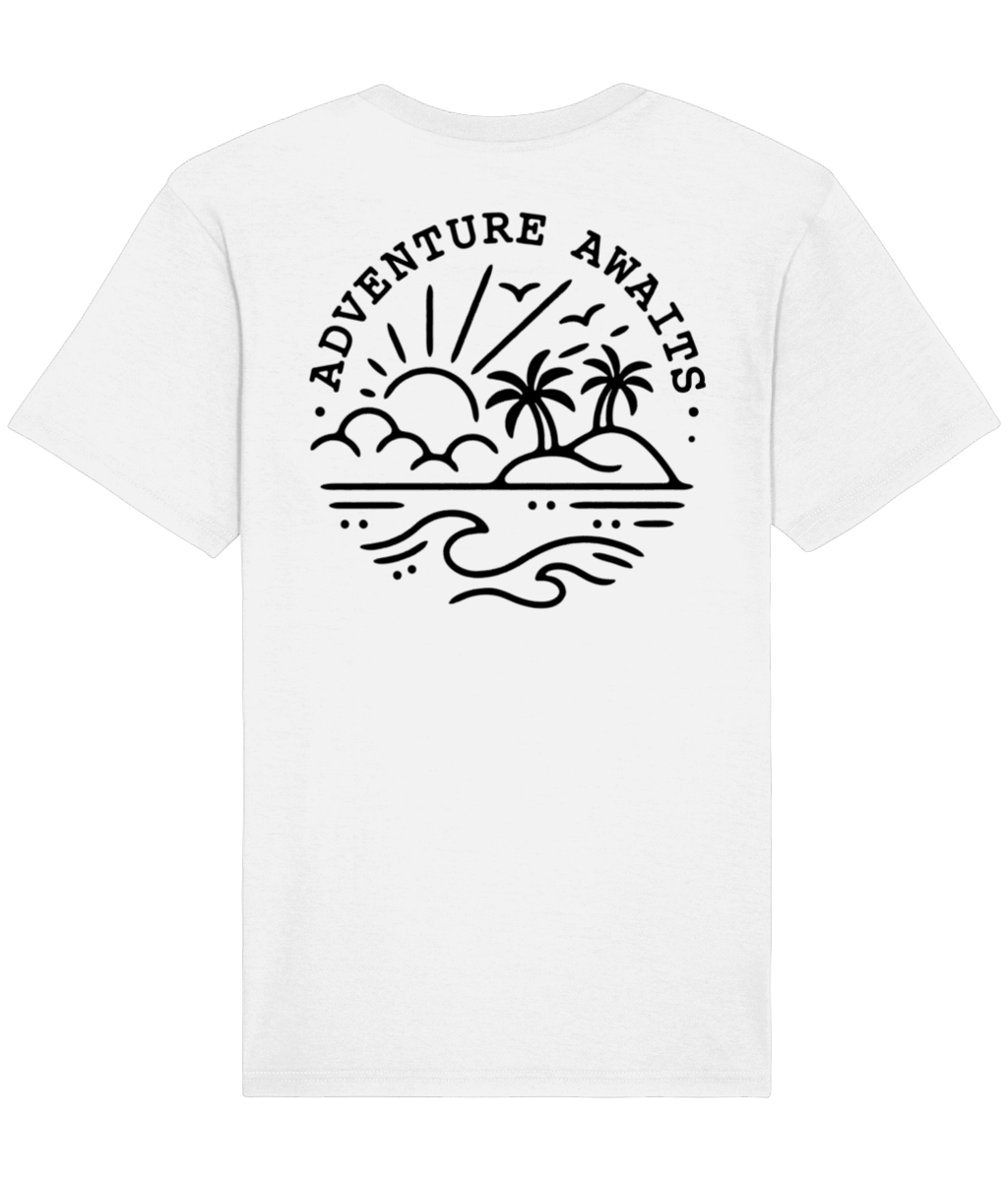 White Adventure Tee - Elsewhere Clothing Co.
