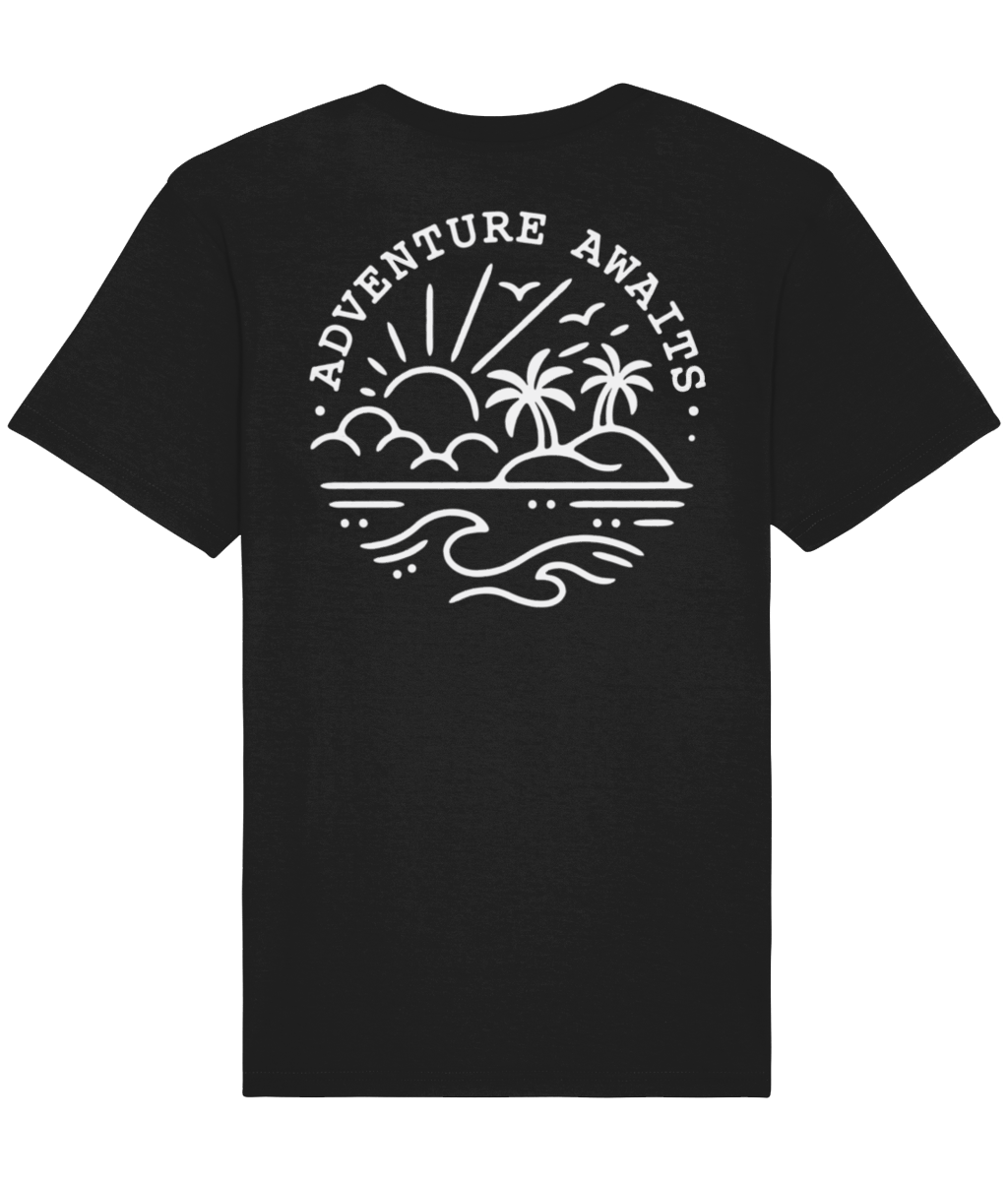 Black Adventure Tee - Elsewhere Clothing Co.