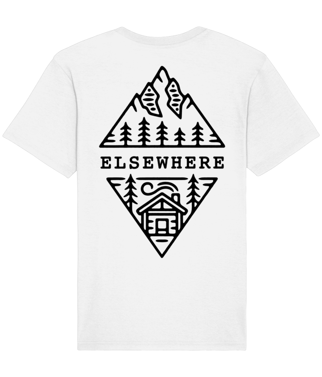 White Cabin Tee - Elsewhere Clothing Co.