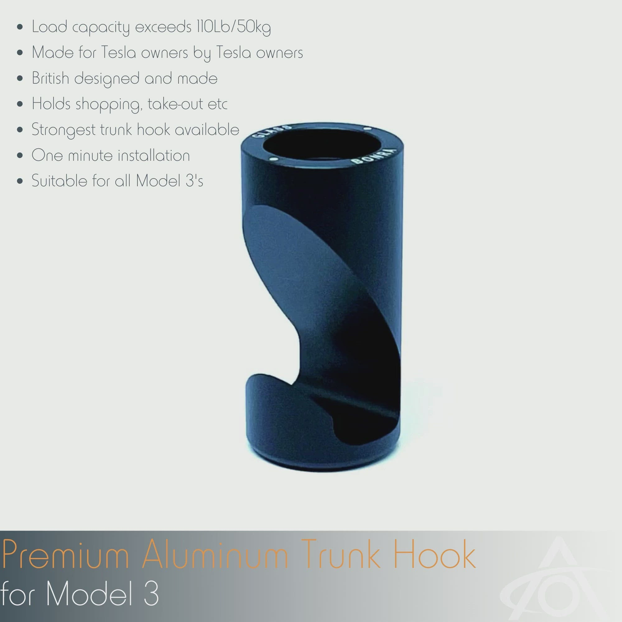 Premium Aluminum Trunk Hook