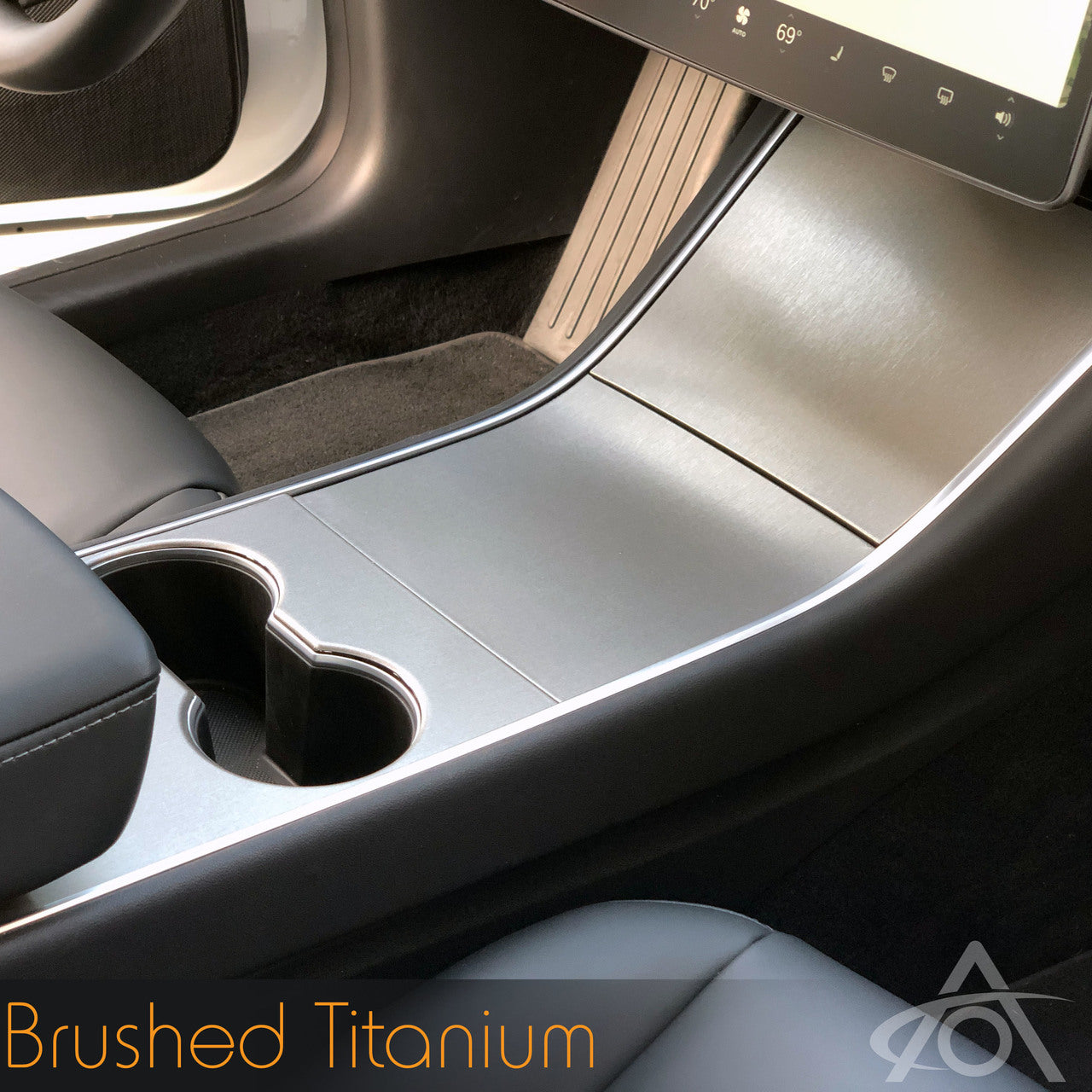 Vinyl Center Console Wrap for Tesla Model Y & 3