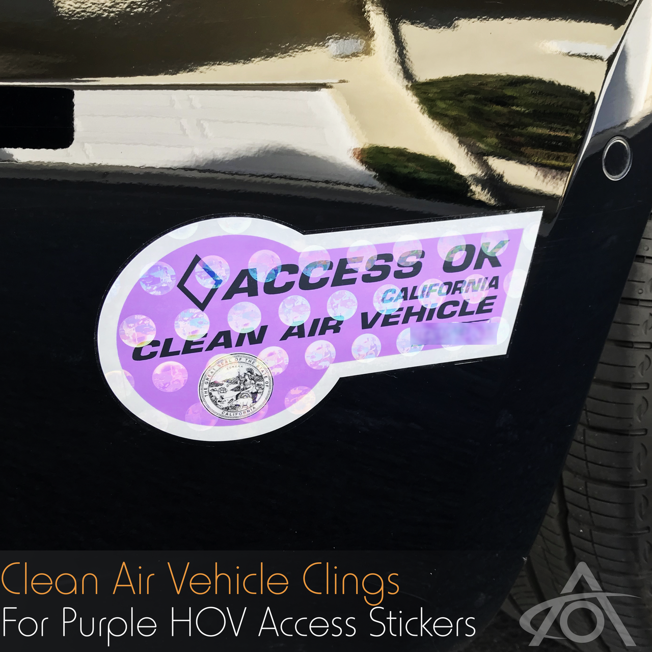 Clean Air (CA -CAV) / Clean Pass (NY-CPV) Clear PPF Clings (Set of 4)