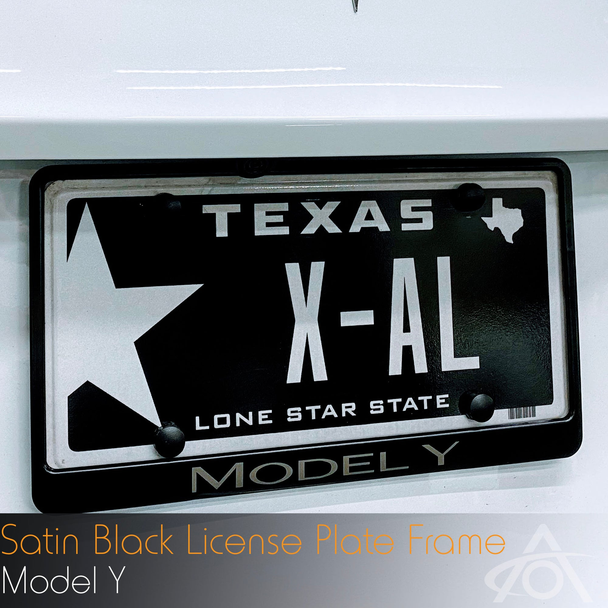 Satin Black License Plate Frame