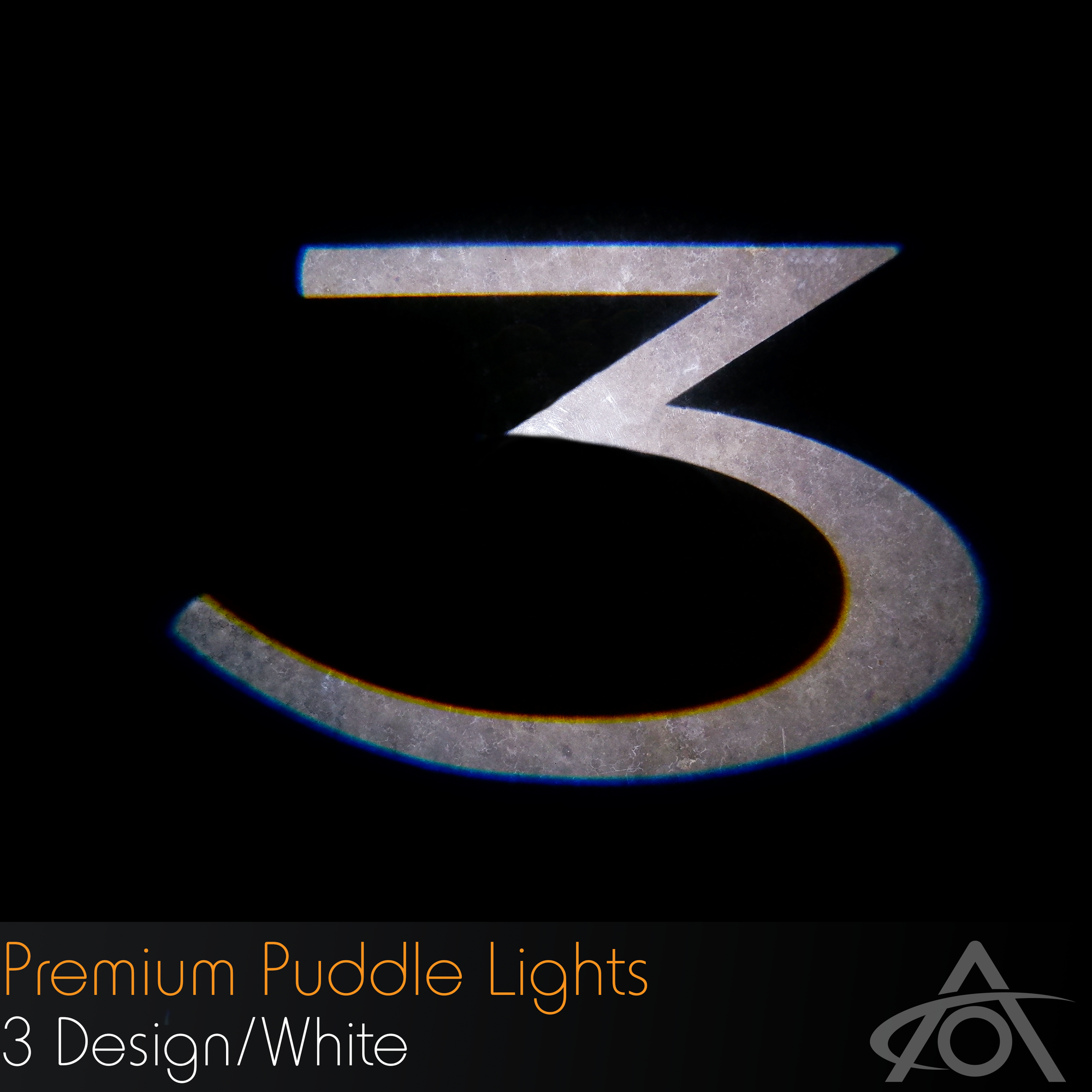 """3"" Ultra-Bright LED Premium Puddle Lights (white, pair)"