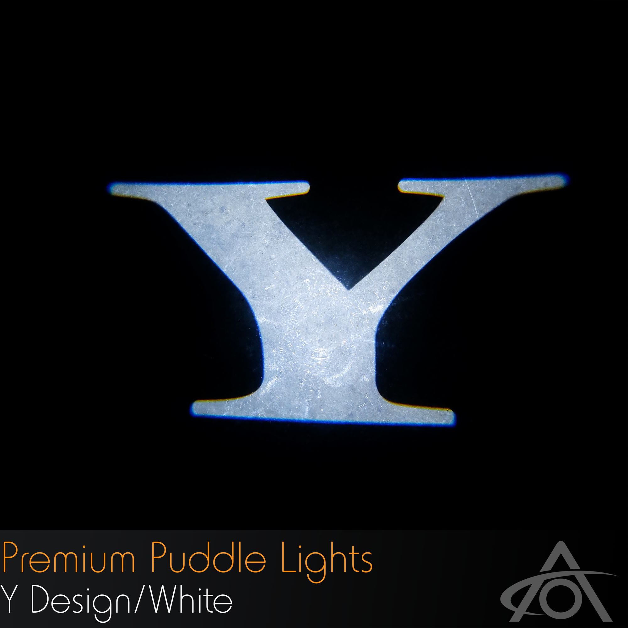 """Y"" Ultra-Bright LED Premium Puddle Lights (white, pair)"