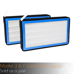 HEPA Cabin Air Filters for Model 3 & Y (sold as a pair)