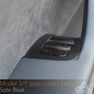 Window and Door Control Decals for Model 3 & Y