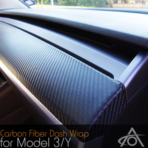 Dash Wrap for the Tesla Model 3 & Y