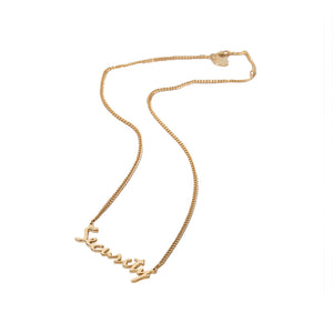 Nu/Age Security Necklace - Gold Gold
