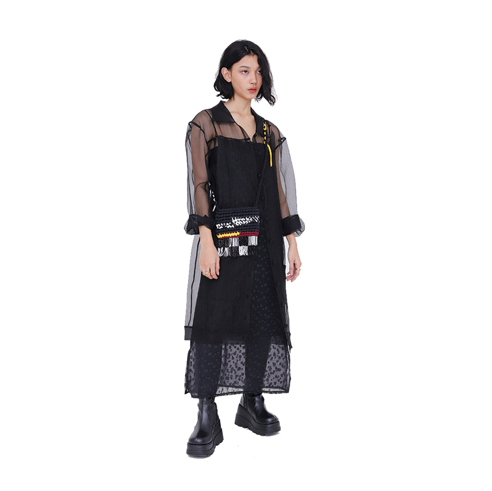 Black Sheer Transparent Outer Black