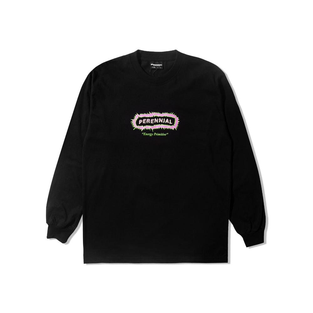 Primitive Logo LS Tee Black