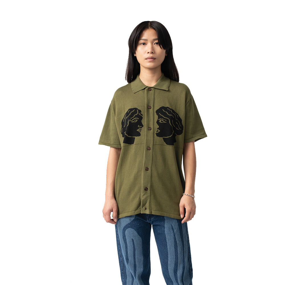 Cum And Cummer Shirt Olive Green