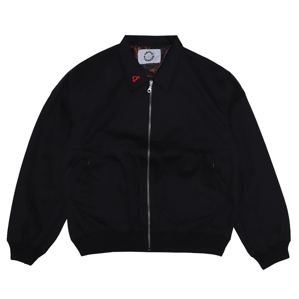 Evil Heads Bomber Jacket Black