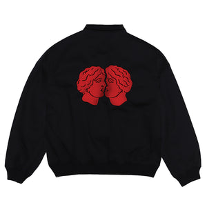 Load image into Gallery viewer, Evil Heads Bomber Jacket Black