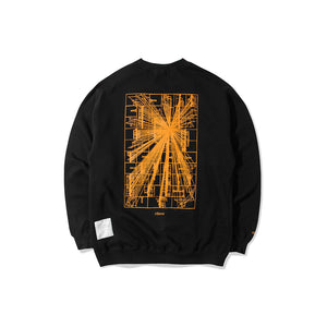 Load image into Gallery viewer, Flare Crewneck Black