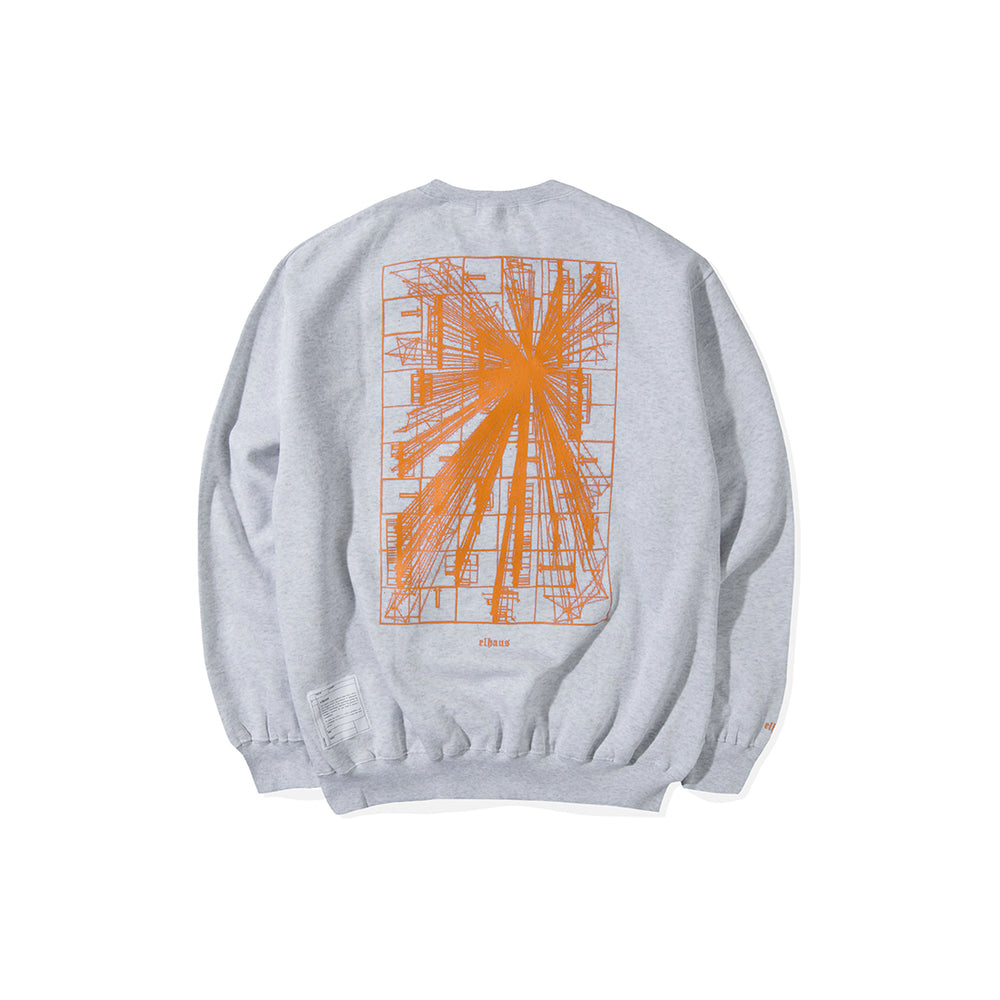 Load image into Gallery viewer, Flare Crewneck Heather White