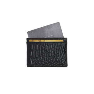 Recta Card Holder Croc Black